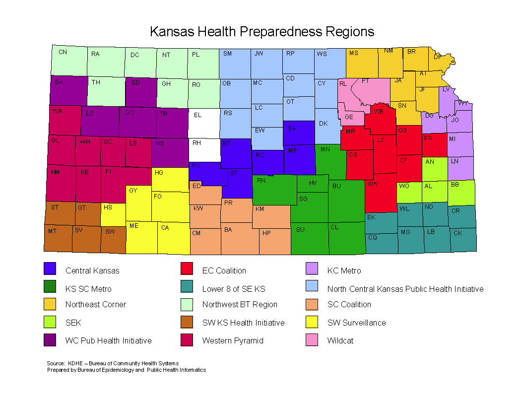 Health Preparedness Regions Map